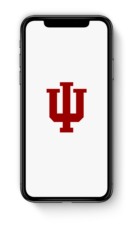 A screenshot of the IU App showing weather, news and One.IU search.
